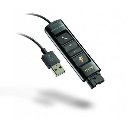 Plantronics DA80 - USB-адаптер для подключения профессиональной гарнитуры к ПК
