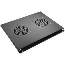 Блок вентиляторов потолочный для шкафов 19, черный GYDERS GDR-RCFB-602B