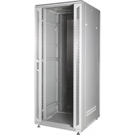 Шкаф 19 напольный 22U, стеклянная дверь, серый GYDERS GDR-226060G