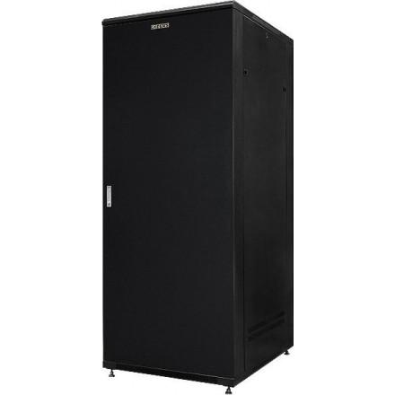 """Шкаф напольный 19"""" 37U GYDERS GDR-376080BM металлическая дверь, черный"""