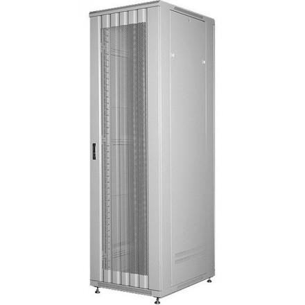 Шкаф 19 напольный 42U GYDERS GDR-428010GP, серый, перфорированные двери