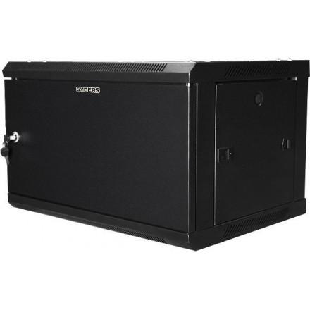 Шкаф 19 12U настенный металлическая дверь черный GYDERS GDR-126035BM