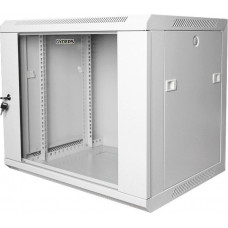 Шкаф 19 12U настенный стеклянная дверь серый GYDERS GDR-126035G