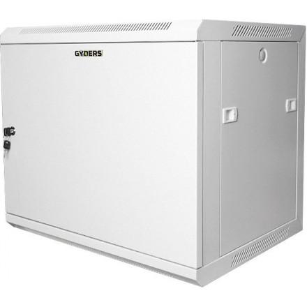 """Шкаф 19"""" настенный 12U GYDERS GDR-126035GM, металлическая дверь, серый"""