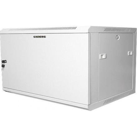 Шкаф настенный 19 18U, металлическая дверь, серый GYDERS GDR-186060GM