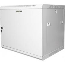 """Шкаф настенный 19"""" 6U серый металлическая дверь GYDERS GDR-66035GM"""
