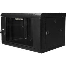"""Шкаф настенный 19"""" 6U черный стеклянная дверь GYDERS GDR-66045B"""