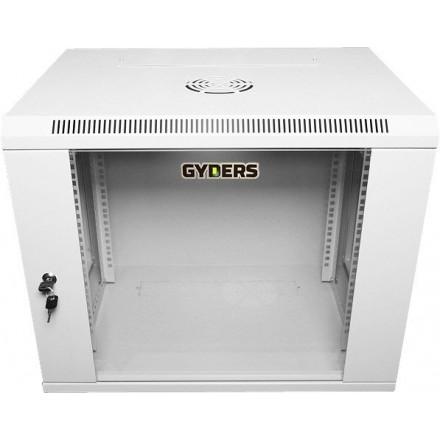 "Шкаф настенный ,19"", 6U, стеклянная дверь, GYDERS GDR-66045G"