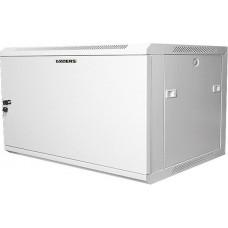 """Шкаф настенный 19"""" 6U серый металлическая дверь GYDERS GDR-66060GM"""