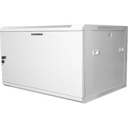"""Шкаф настенный, 19"""", 6U, серый, металлическая дверь, GYDERS GDR-66060GM"""
