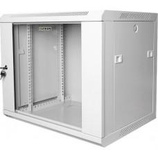 Шкаф настенный 19 9U GYDERS GDR-96035G стеклянная дверь серый