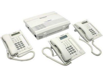 Panasonic KX-TEM824  и системный телефоны
