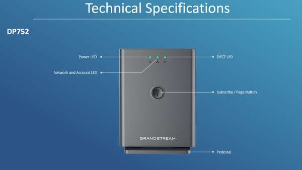 Grandstream DP752 - IP DECT базовая станция