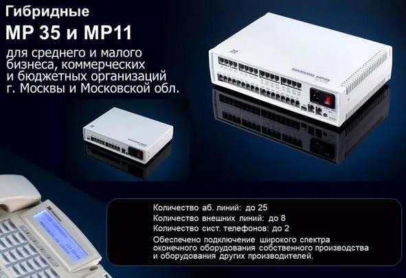 Максиком МР11 - мини АТС до 11 портов